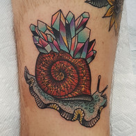 Snail Crystal Tattoo