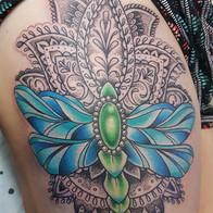 Dragonfly Mehndi Tattoo