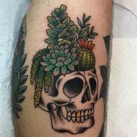Succulent Skull Tattoo
