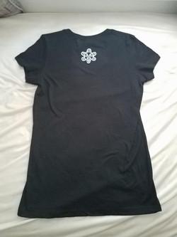 Back: Women (Large) V-Neck T-Shirt