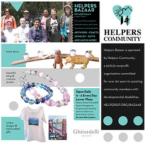Helpers' Bazaar promotional flyer