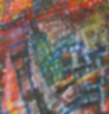 Night City Alive by Marilyn Wong, mixed media, Pomeroy Center