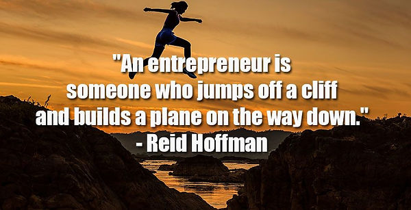An entrepreneur is someone who junps off