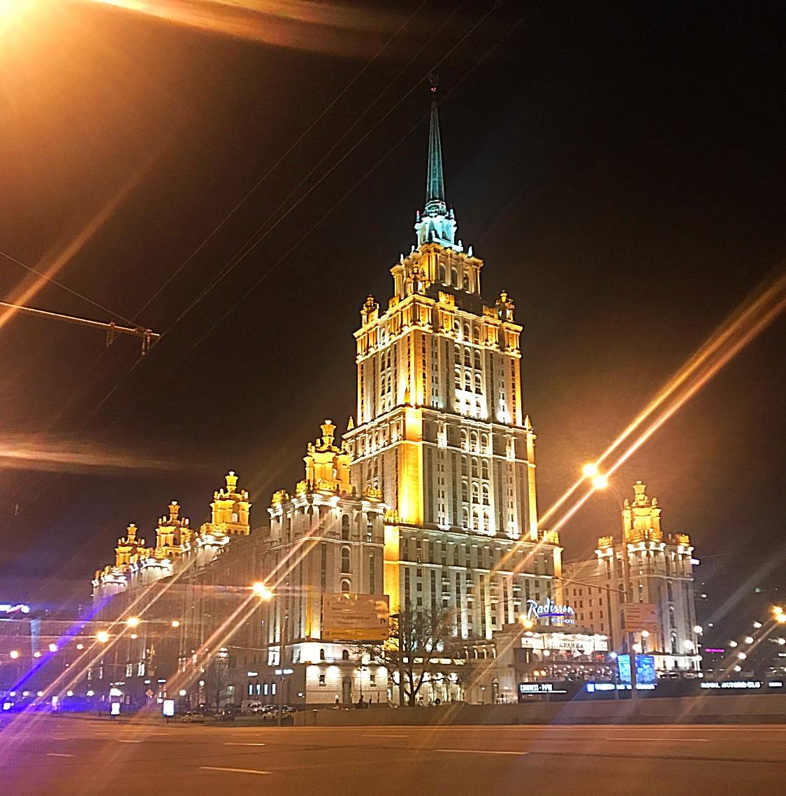 夜のモスクワツアー