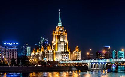 夜のモスクワ観光ツアー