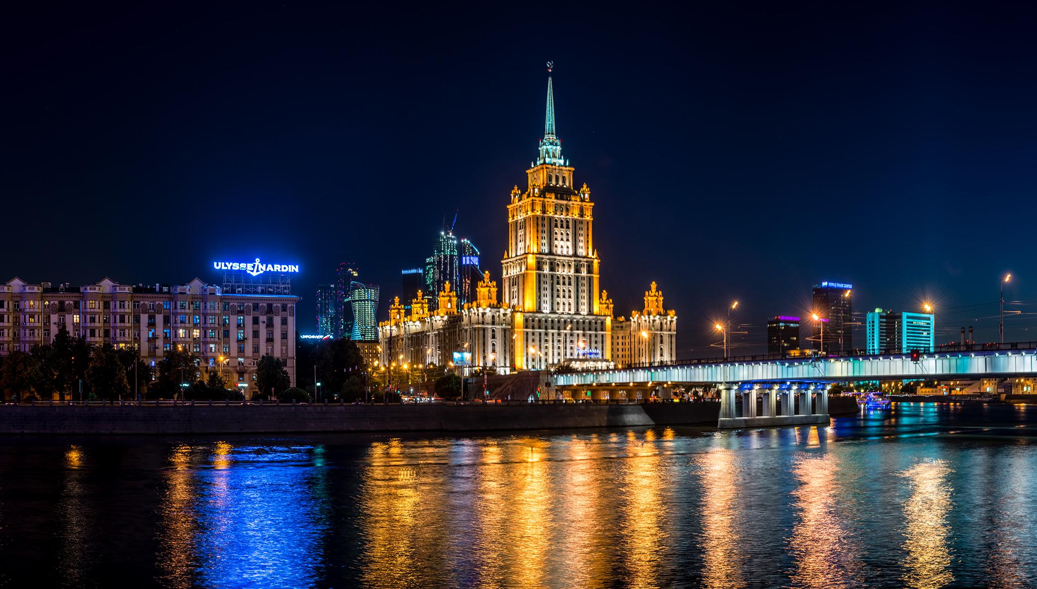 夜のモスクワ案内ツアー