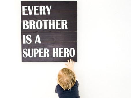 every brother is a super hero | nj newborn photographer