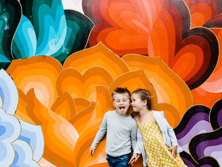 mid week mural mini session in the mission // san francisco family photographer