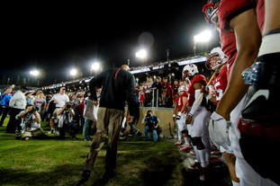 Stanford Football anxious to play.  Invisiblesmiley (c)2020