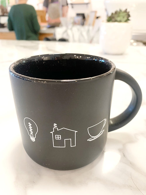 Light House Black Mug