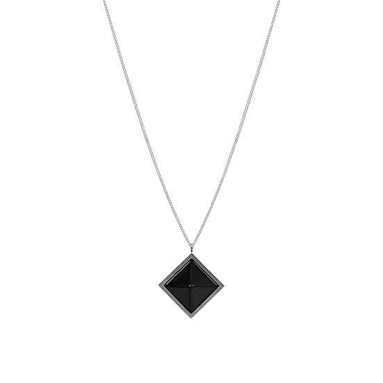 Pyramid OBSIDIAN necklace