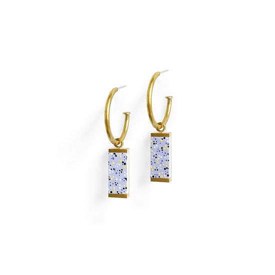MEAVE Hoop earrings lavender
