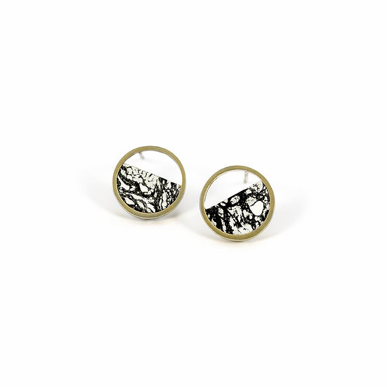 Mini Stratos BLACK earrings