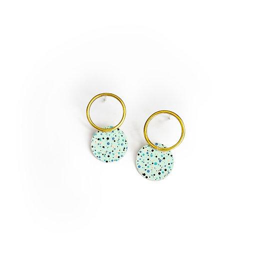 Mottled MINT earrings
