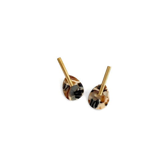 Acetate BROWN earrings