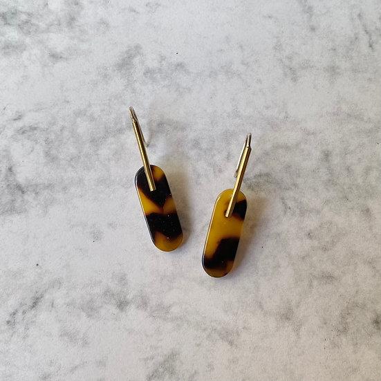 Acetate CARAMEL earrings