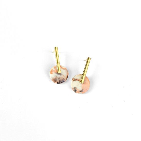 MANDARINA Porcelain earrings
