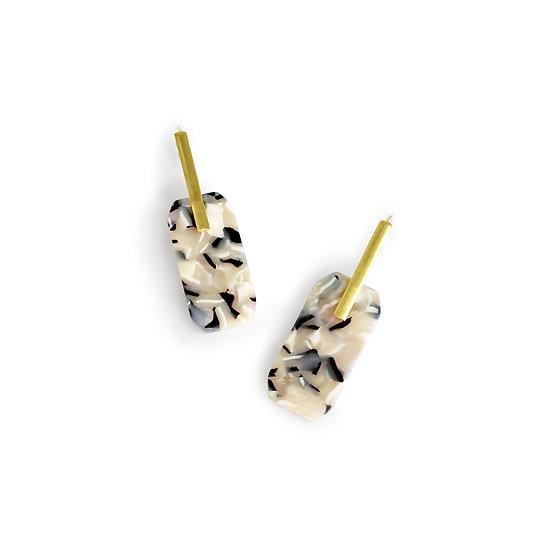 Acetate BROWNIE earrings