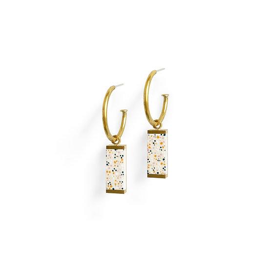 MEAVE Hoop earrings beige