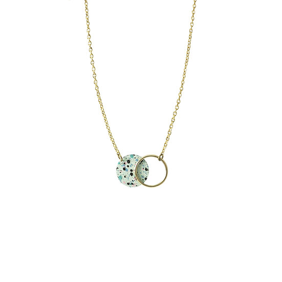 Mottled MINT necklace