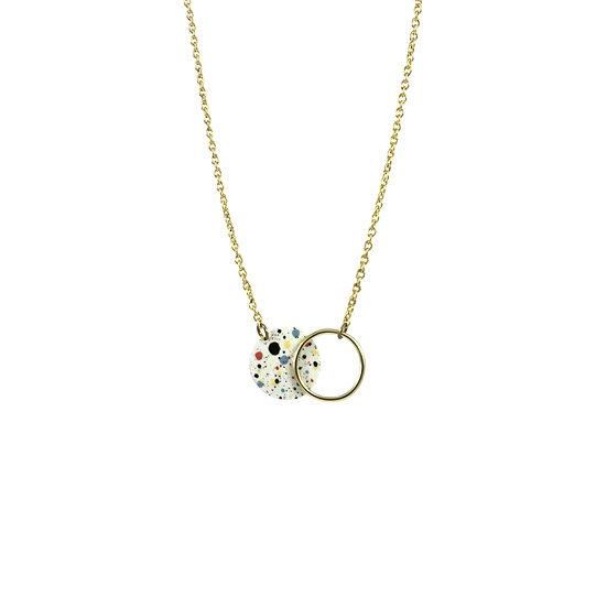 Mottled WHITE necklace