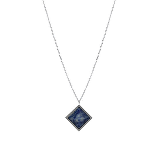 Pyramid SODALITE necklace