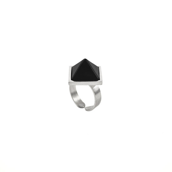 Pyramid OBSIDIAN ring