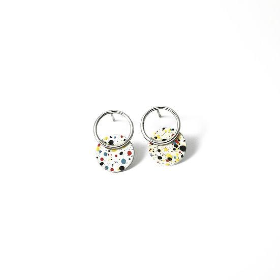 silver MOTTLED earrings