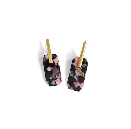 Acetate BLACK earrings