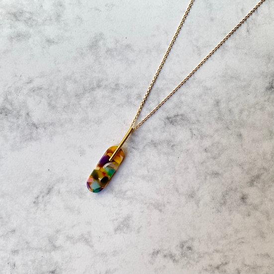 Acetate MULTICOLOR necklace