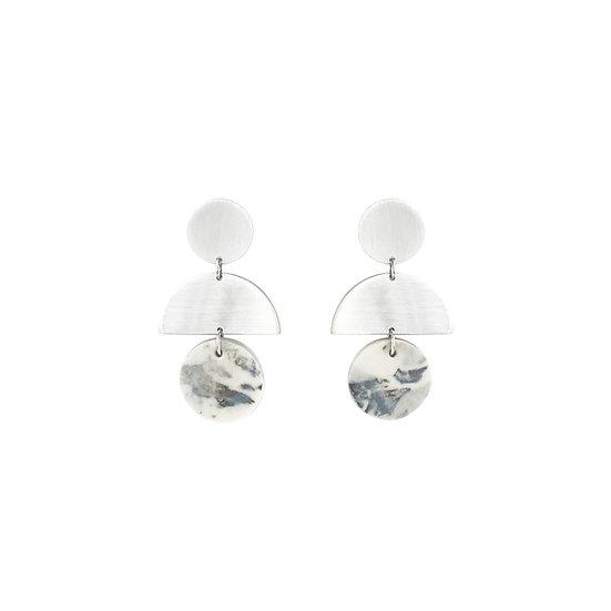 Porcelain BLUElarge earrings