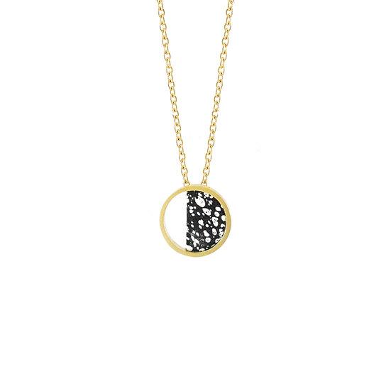 Mini Stratos BLACK necklace