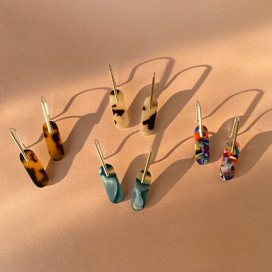 Acetate large earrings (Limited edition)