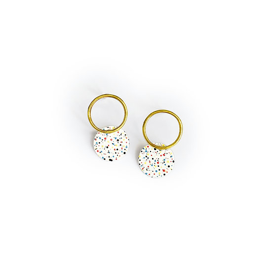 Mottled WHITE earrings