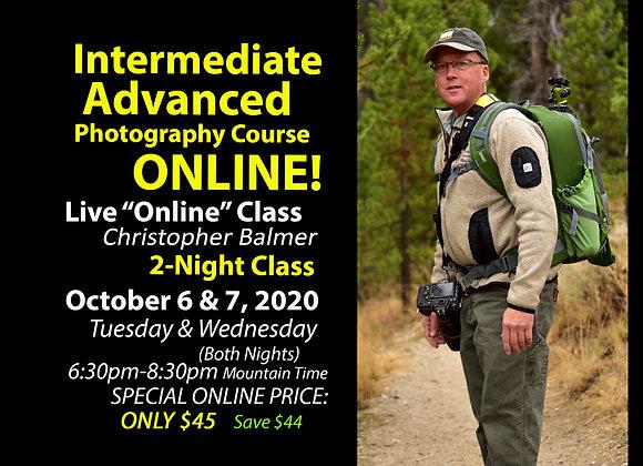 INTERMEDIATE/ADVANCED DSLR ONLINE CLASS