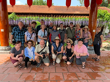 Image of group by Christopher Balmer on riverboat photo tour in Cambodia & Vietnam