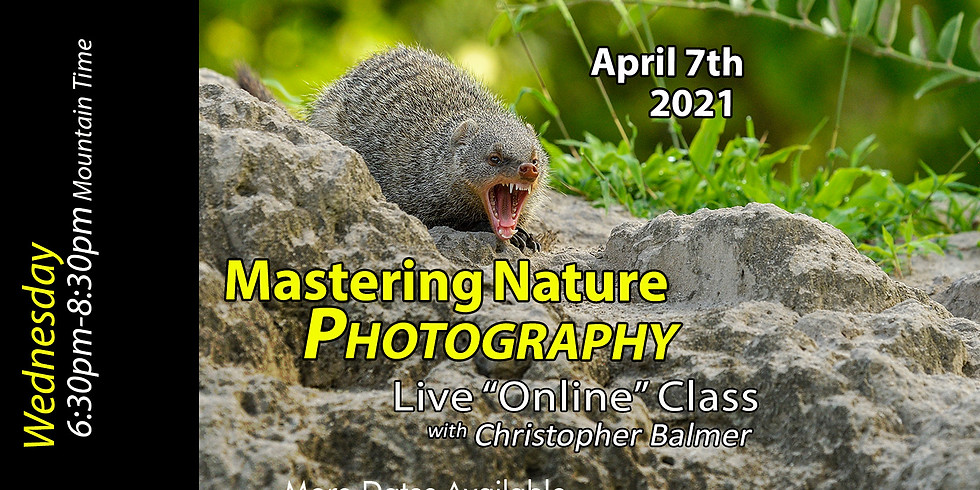 Mastering Nature Photography Course April 7th, 2021