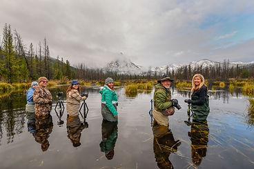 Image of Photographers by Christopher Balmer Redfish Lake Photo Tour