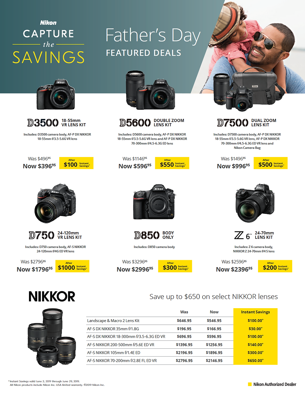 Nikon Capture the Savings for camera and lens kits