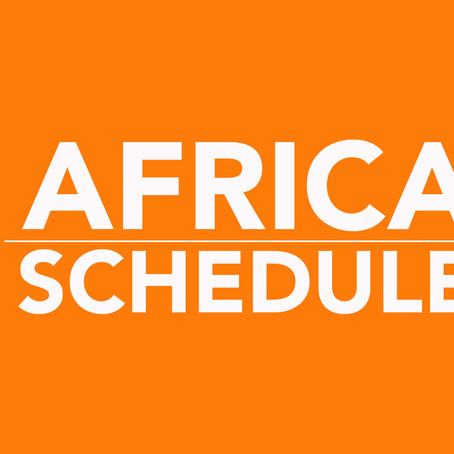 BOTSWANA & SOUTH AFRICA SCHEDULE 2022