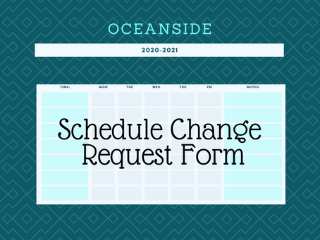 S2 - Schedule Change Request Form