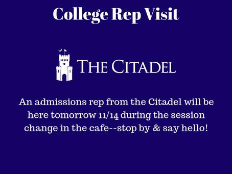 College Rep Visit