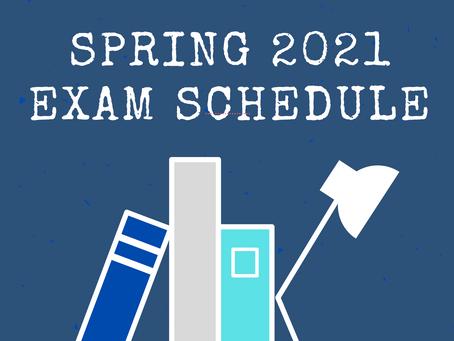 DE Final Exam Schedule - SPR21