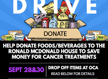 NHS Food Drive - Sept. 28 & Sept. 30th