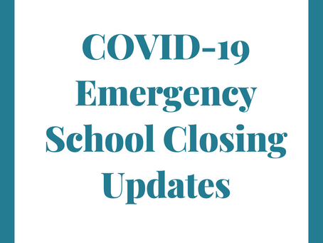 Coronavirus School Closing Updates