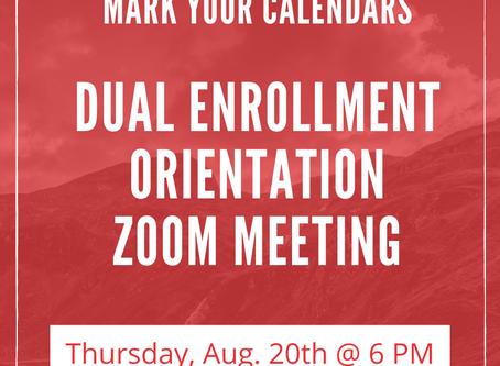 Dual Enrollment Orientation