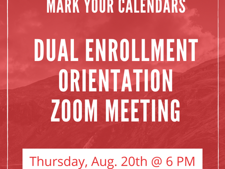 Dual Enrollment Orientation