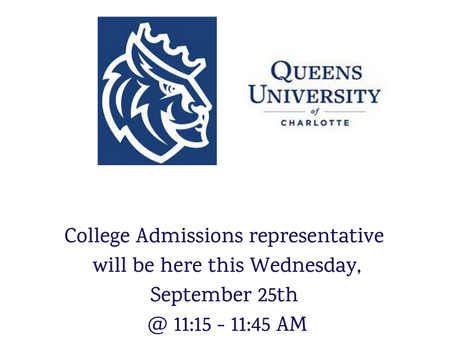 College Rep. Visit this Wednesday 9/25