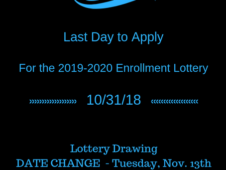 Last Day to Apply for 2019-2020 Lottery