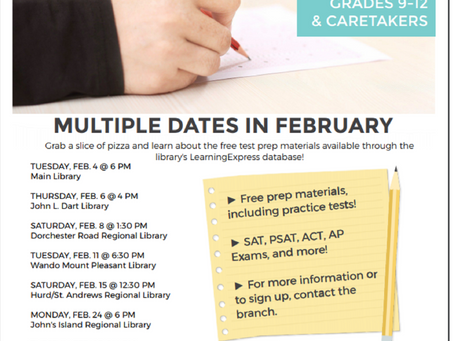 Free SAT Test Prep at CCPL